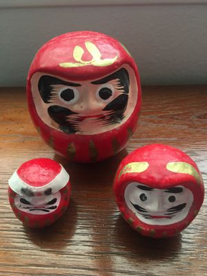 3 Small Japanese Dharma Dolls for Sale in West Richland, WA
