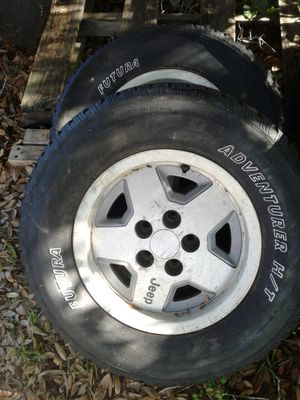 15x7 jeep rims pair of 2 5x4.5or 5x114.3 for Sale in Lake Wales, FL