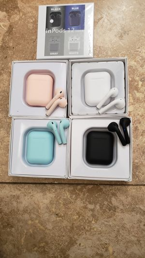 Wireless earbuds w mic 20$ each color for Sale in Ontario, CA