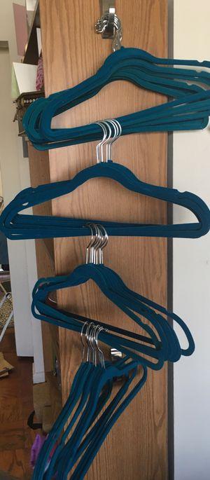 33 blue velvet hangers (never used) for Sale in Arlington, VA