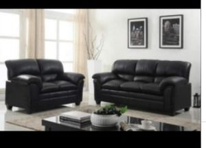 New 2pc. Black Sofa and love seat for Sale in Austin, TX