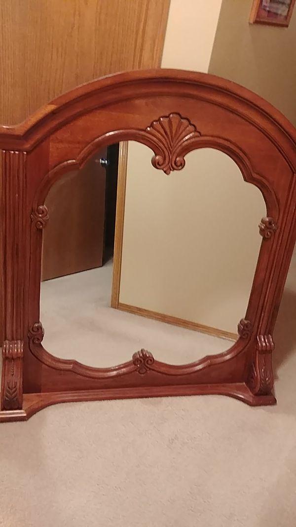 Cherry Ornate Mirror