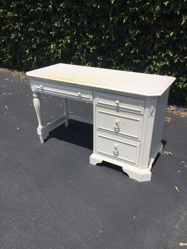 Shabby French Chic Solid Wood Small Desk or Vanity