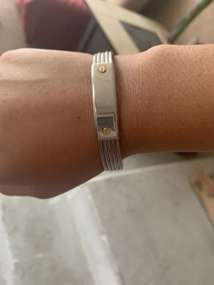 Men's stainless steel and gold bracelet for Sale in Cypress, CA