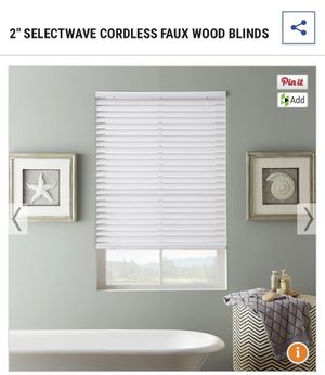 Set of two Faux wood blinds for Sale in Twinsburg, OH