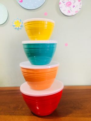 MELAMINE NESTING FOOD STORE BOWLS KITCHEN CONTAINERS MIXING BOWLS SERVING BOWLS for Sale in Bellflower, CA