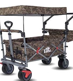 TMZ Al Terrain Utility Folding Wagon Collapsible Garden Cart , Heavy Duty Beach Wagon , For Shopping , Camping And Outdoor Activities ( Camo Sand) for Sale in Montebello,  CA