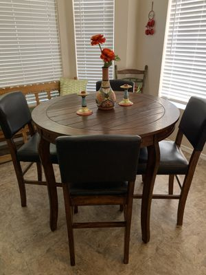 Wooden elevated kitchen table and 4 chairs for Sale in Phoenix, AZ
