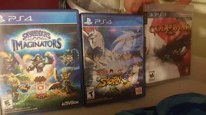 1 Ps3 game and two Ps4 games for Sale in Allentown, PA