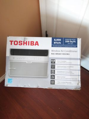 BRAND NEW AC WINDOW TOSHIBA 8,OOO BTU SMARTPHONE CONTROL VOICE CONTROL ENERGY SAVER NEW MODEL FOR ANY QUESTIONS TEXT ME PLEASE for Sale in Los Angeles, CA