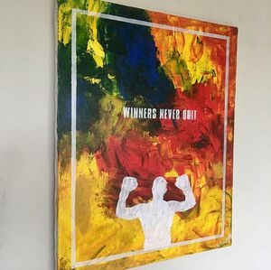 """Winners never quit"" abstract positive art painting on canvas for Sale in Arlington, VA"