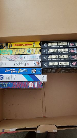 VHS tapes Johnny Carson/children's tapes for Sale in Land O Lakes, FL