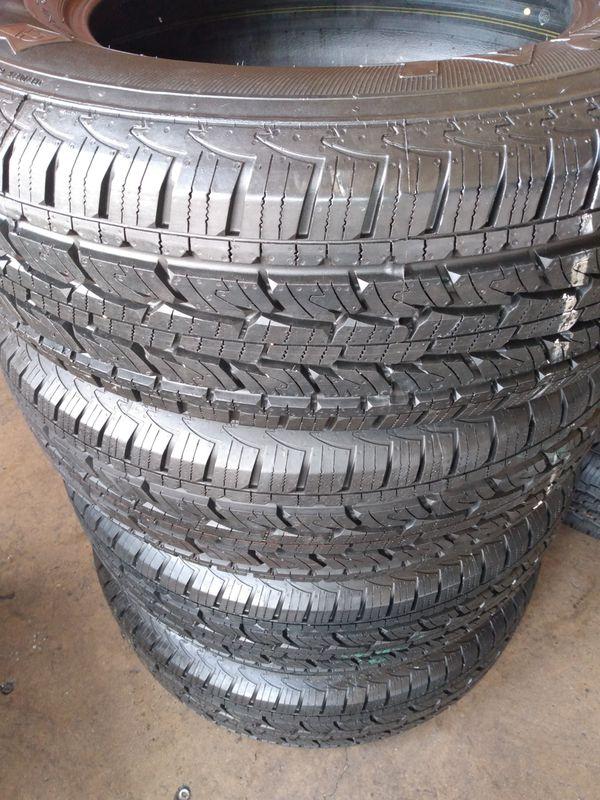 Set of 4 tires =245/70/17-General Grabber 95% of life