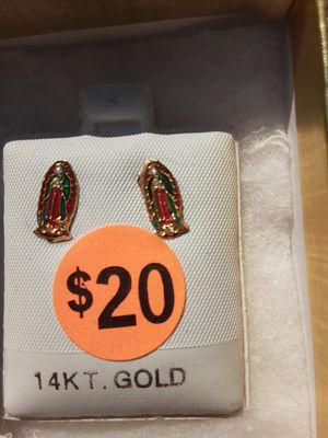 14K Gold Virgin Mary Earrings for Sale in CARPENTERSVLE, IL