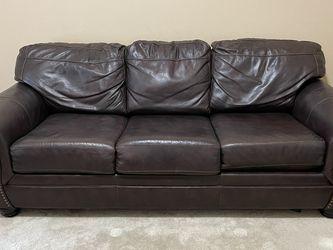 Matching Leather 3 Piece Set. Queen Sleeper Sofa, Ottoman, Rocker/Recliner for Sale in Buda,  TX