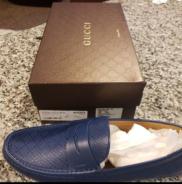b684ea07638 Suze 14 Gucci exotic blue shoes in box 300.00 for Sale in Humble