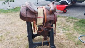 Older textan saddle for Sale in Tacoma, WA