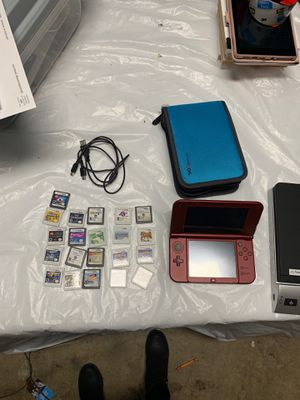 Nintendo 3DS with case, charger, and bundle of 21 games for Sale in Plantation, FL