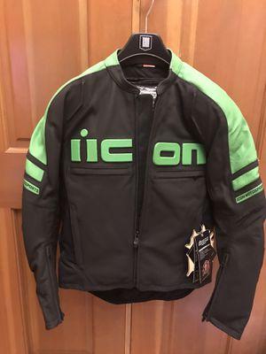 Icon motorhead II motorcycle jacket Kawasaki color for Sale in Federal Way, WA