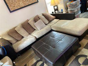 Micro fiber couch and ottoman for Sale in Cornelius, NC