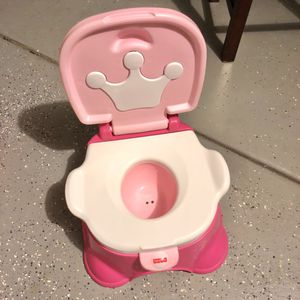 Fisher Price Pink Princess Potty Seat / Step Stool for Sale in Murrieta, CA