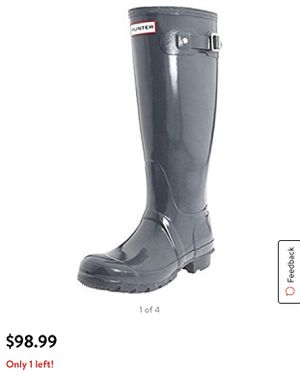 Hunter women original tall welley gloss rubber boots for Sale in Evanston, IL