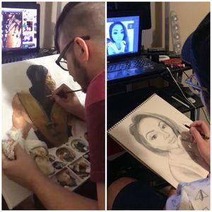 Drawing a pancil portrait for Sale in Arlington, TX