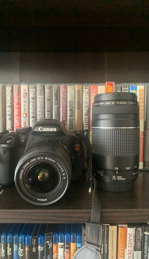 Canon EOS Rebel T3I W/18-35 & 75-300 Zoom Lenses for Sale in Los Angeles, CA