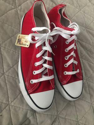 red converse men's 9.5/10 for Sale in Murfreesboro, TN