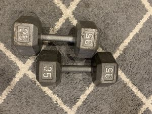 35 POUNDS HEX DUMBBELLS for Sale in Garden Grove, CA