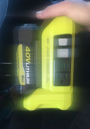 RYOBI 300w power inverter -with battery for Sale in Placerville, CA