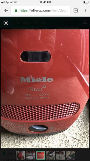 Brand new Miele Titan 1200 watts vacuum thanks for Sale in Rockville, MD
