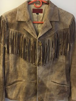 Fringe Leather jacket Size M for Sale in Reston,  VA