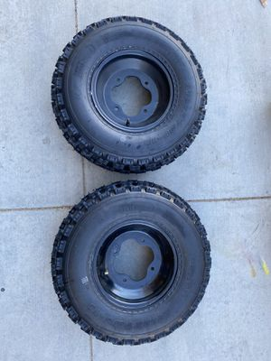 22x7-10 new front atv quad tires on ITP rims 4/144 for Sale in Phelan, CA