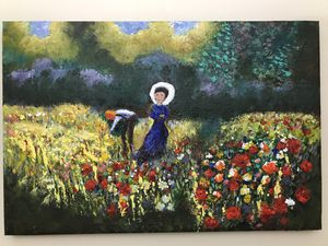 """Oil painting canvas 36"""" for Sale in Englewood, NJ"""
