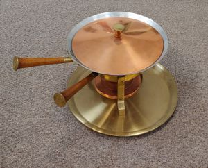 Vintage Brass & Copper Fondue Pot for Sale in Burlington, NC