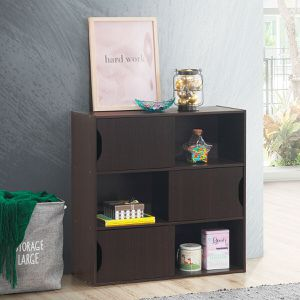 3-cube Bookcase Cabinet with Humanized Grooved Handles for Sale in Wildomar, CA