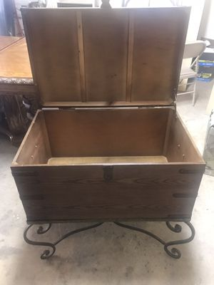 Storage chest/trunk with beautiful iron legs for Sale in Palos Park, IL