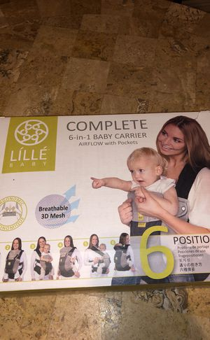 LILLEBABY Baby Carrier COMPLETE - AIRFLOW w/ pockets in Champagne 3D Mesh for Sale in Las Vegas, NV
