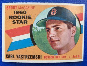 1960 Carl Yastrzemski Rookie Topps Baseball Card # 148 Original Boston Red Sox. Nice for Sale in Brea, CA