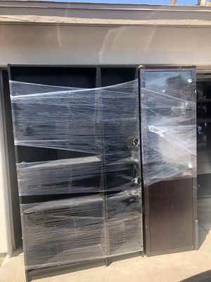 Shelving + glass cabinet with lighting for Sale in Phoenix, AZ