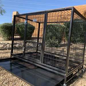 Heavy duty 43 Inch Kennels 🐶 w/ Grid floor, plastic tray 🐶 casters 🐶 🙀🇺🇸 🐶 Please see dimensions in second picture 🐶 Get It today for Sale in Phoenix, AZ