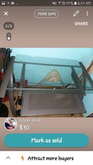 Glass desk for Sale in Chillicothe, IL