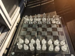 Vintage glass chess set (small) for Sale in Alexandria, VA