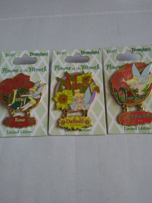 Disney Tinker Bell pins( set of 3) for Sale in Wilmington, CA