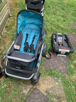 GB Evoq Travel Stroller Teal and Car Seat Attachment Base for Sale in Germantown, MD
