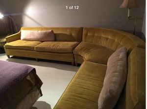 Lovely Mid Century Modern exLong Sectional Vintage Couch Sofa 11' x 9' for Sale in Nashville, TN