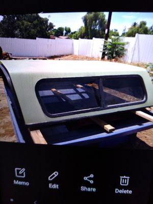 Camper shell small bed truck unknown slide window missing needs tlc $35.00 firm for Sale in Lakeside, CA