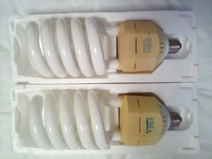 Sunlite CFLs - Warm White and Red - 85 watt 120 volt for Sale in San Diego, CA