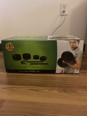 Gold's Gym- 40lb Vinyl Dumbbell Set for Sale in Fort Lauderdale, FL